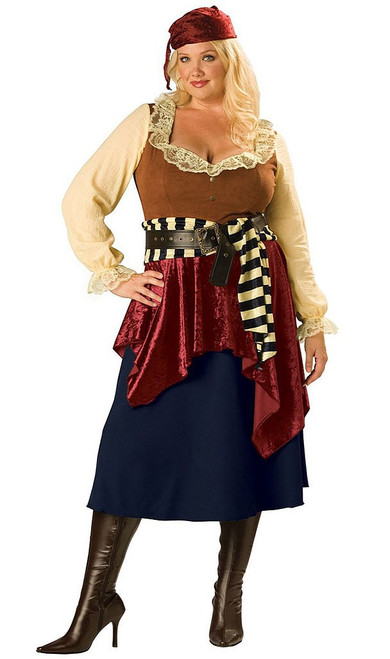Plus Size Buccaneer Beauty Costume