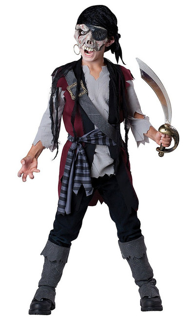Shipwrecked Zombie Pirate Kids Costume