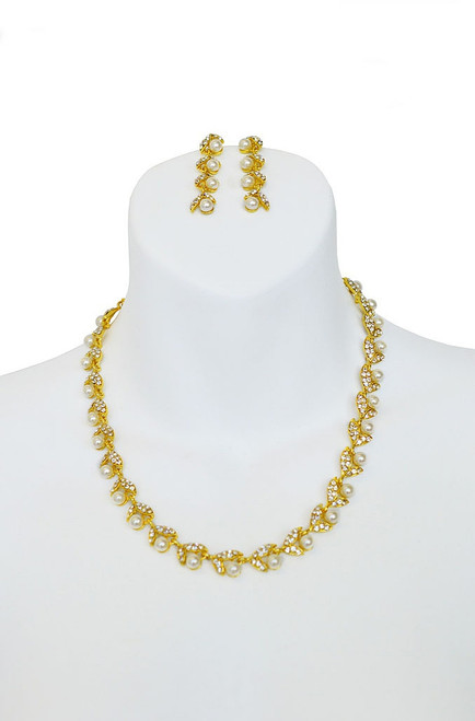 Pearl Gold Necklace Set