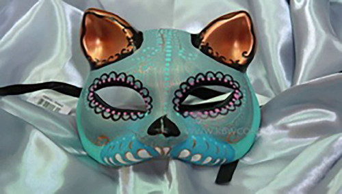 Cat-Style Day of the Dead Mask