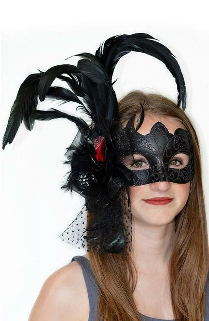 Venetian Black Mask