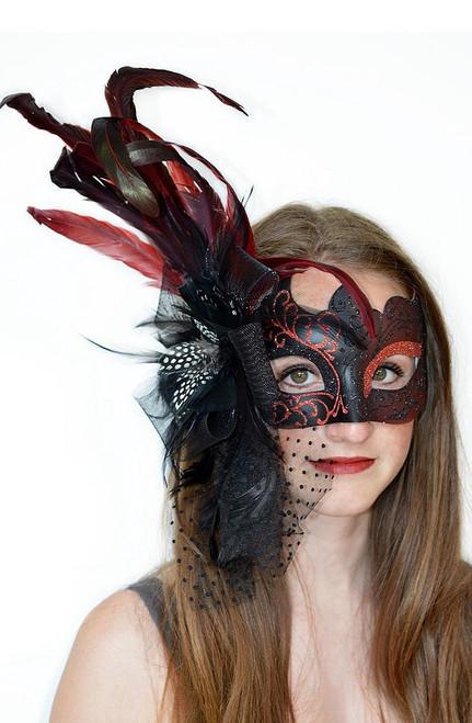 Venetian Red & Black Mask