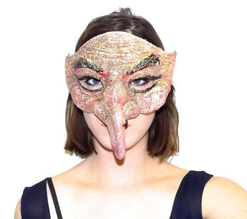 Short Nose Venetian Mask Pink back
