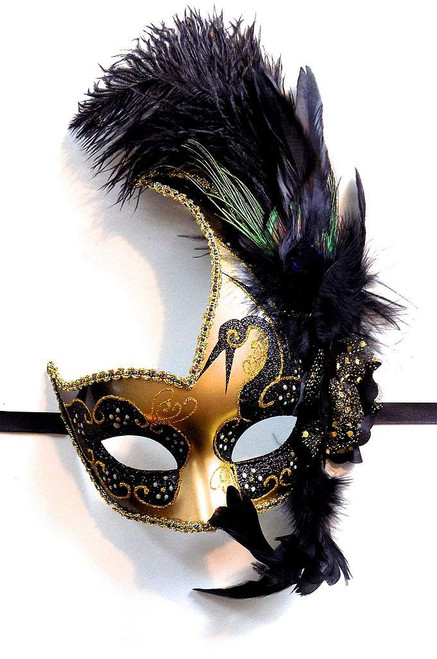 Venetian Mask Black/Gold