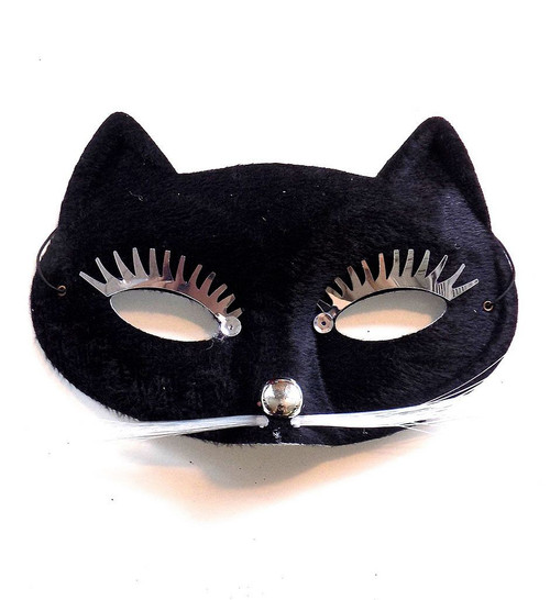 Party Black Cat Face Mask
