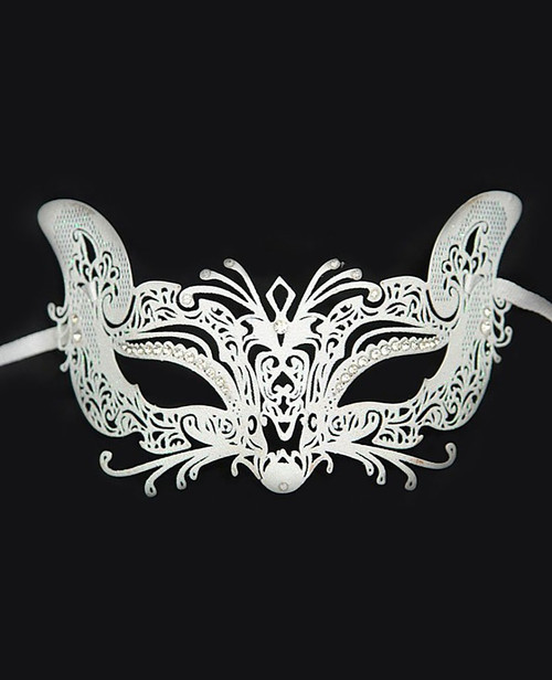 Metal White Venetian Mask