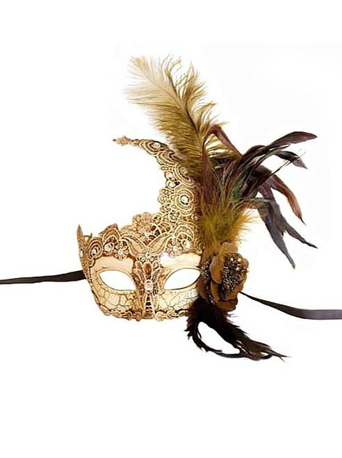 Ivory Venetian Lace Mask