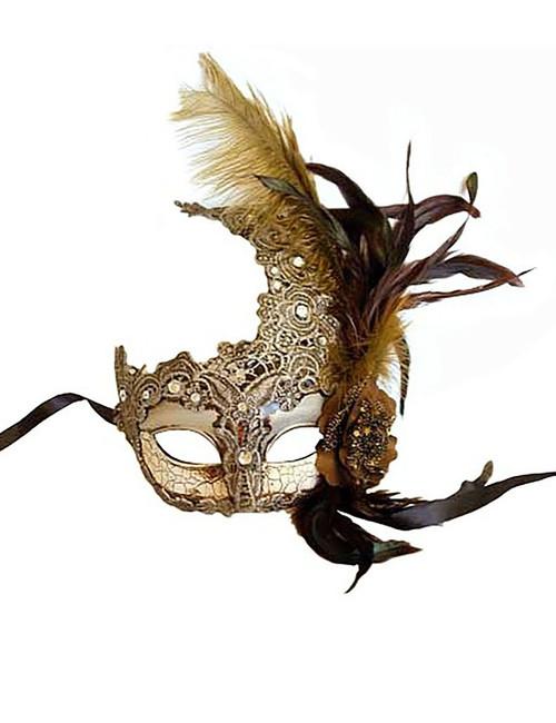 Silver Venetian Lace Mask