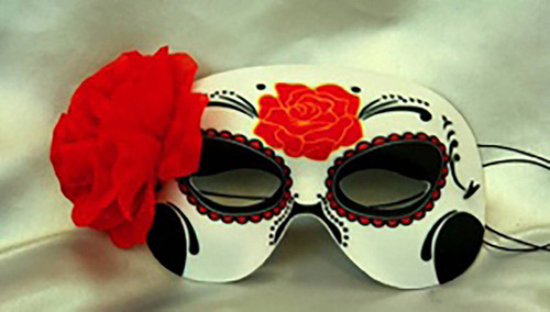 Day of the Dead Mask & Flower