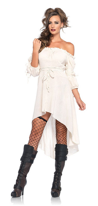 Gauze Peasant Dress Ivory