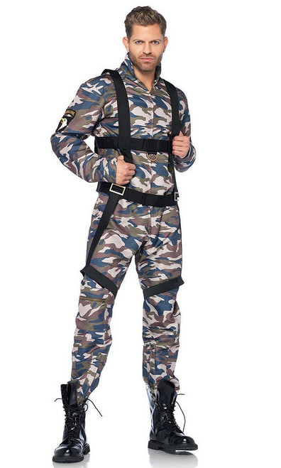 Men's Paratrooper Military Costume