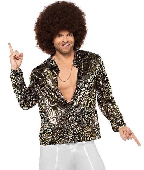 Zebra Disco Shirt Costume