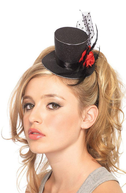 Mini Hat with Red Rose