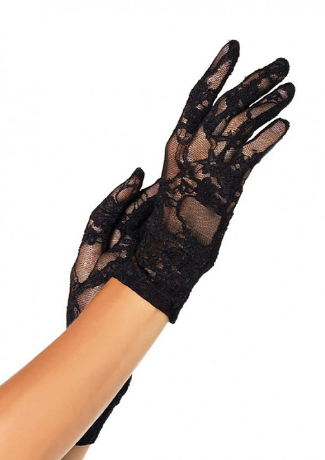 Stretch Lace Glove Black