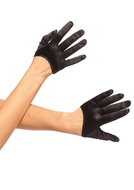 Mini Cropped Gloves Black