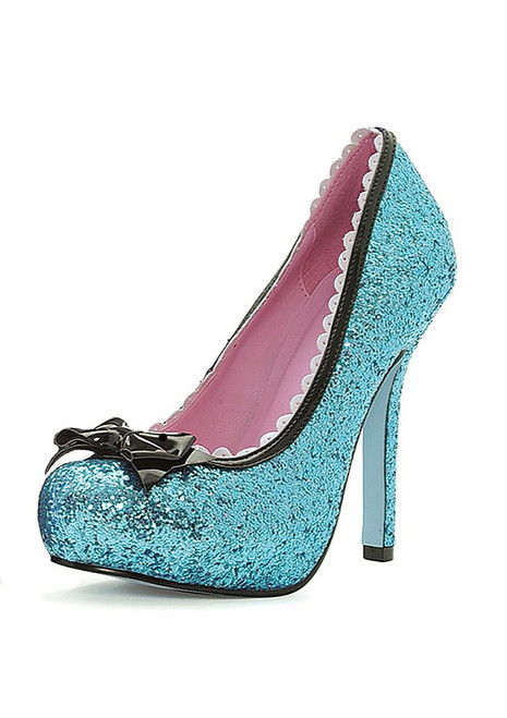 Princess Sequin Blue Shoes