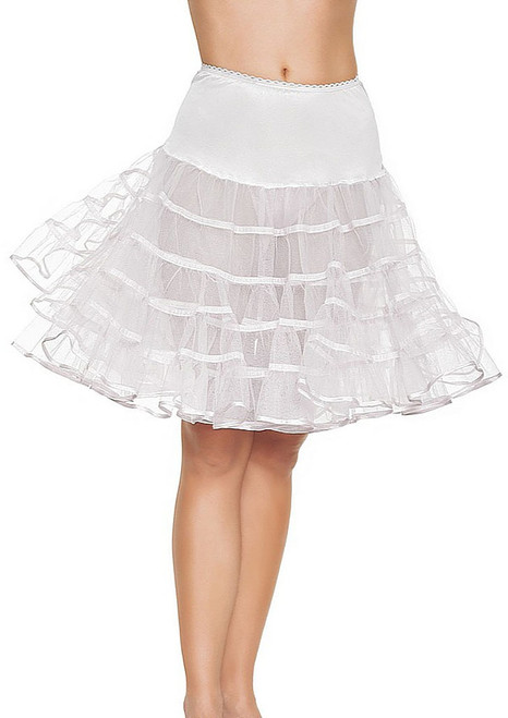 Long petticoat White