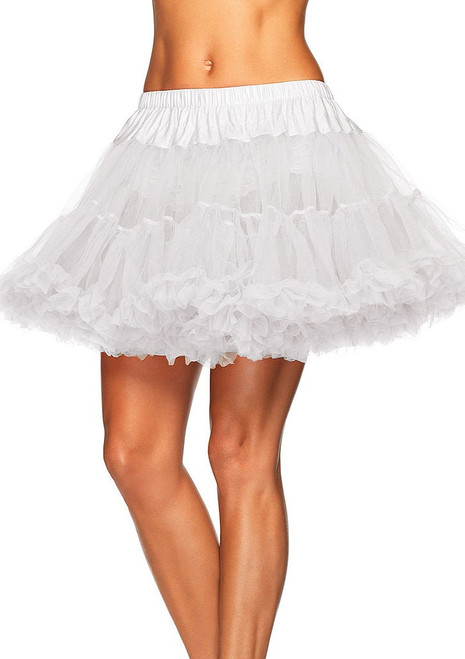 Layered Tulle Halloween Petticoat in White