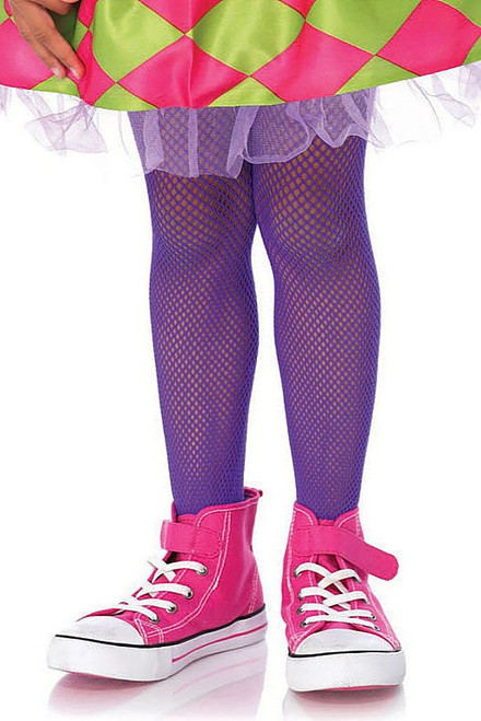 Children's Purple Fishnets