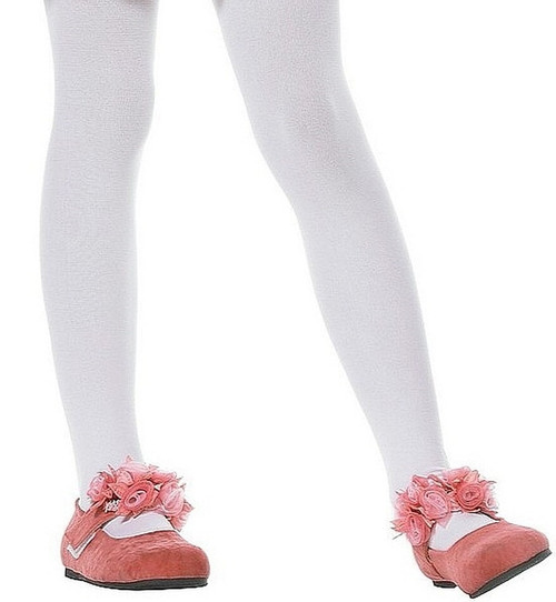Girls Opaque White tights