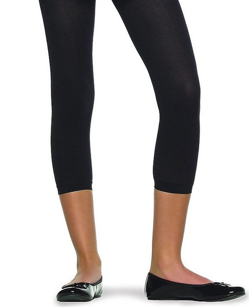 Childrens Footless Black Tights