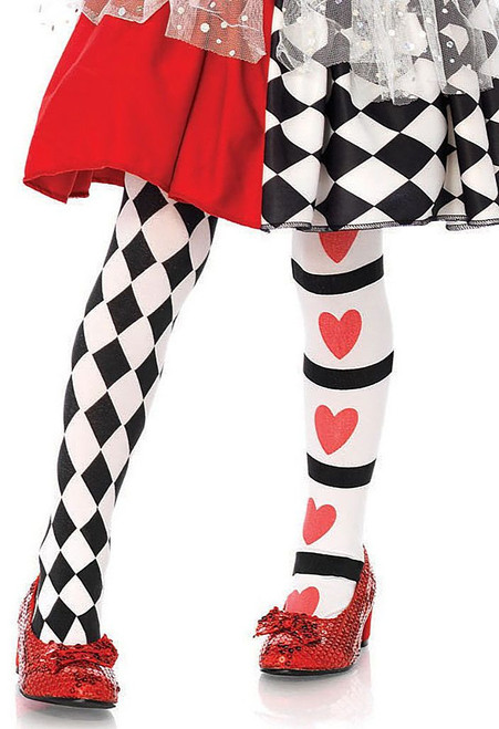 Harlequin & Heart Child Tights