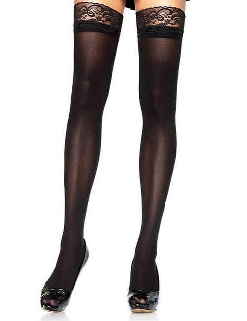 Thigh Highs Opaque black