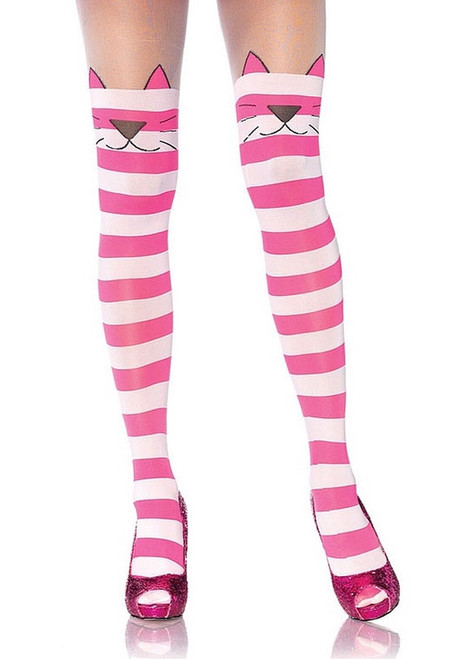 Cheshire Cat Striped Adult Tights