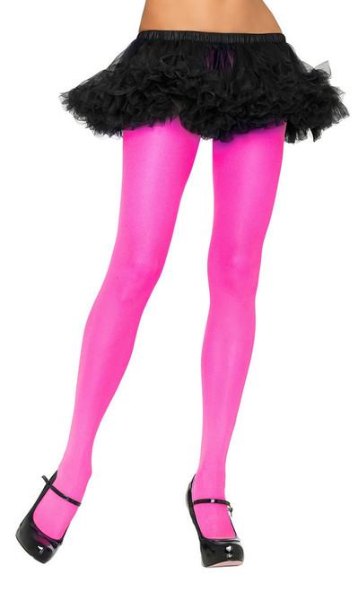 Nylon Tights Neon Pink