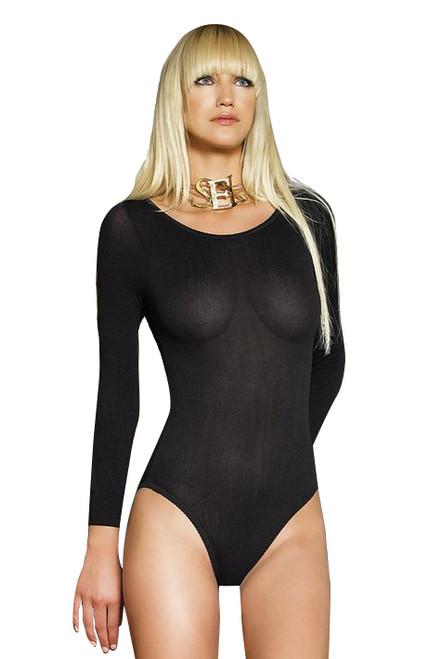 Long Sleeved Black Bodysuit