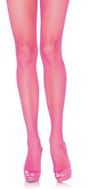 Nylon Fishnet Pantyhose Pink