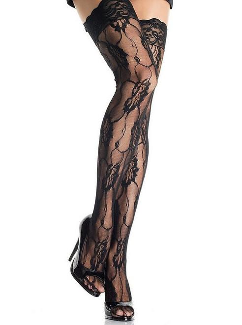 Romantic black Lace Thigh Highs