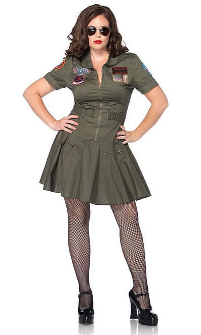 Top Gun Flight Dress Plus