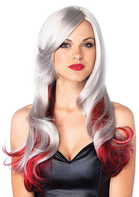 Allure White & Red Wig