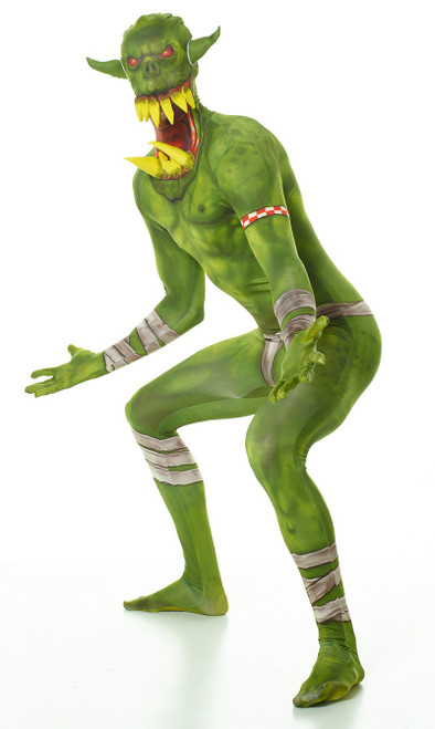 Green Orc Morphsuit Adult Costume