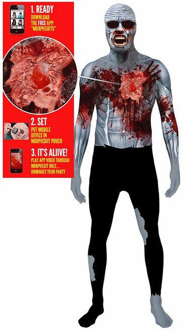 Beating Heart Zombie Men Costume