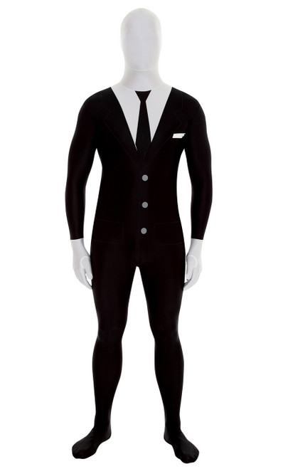 Slenderman / Suit Morphsuit Costume