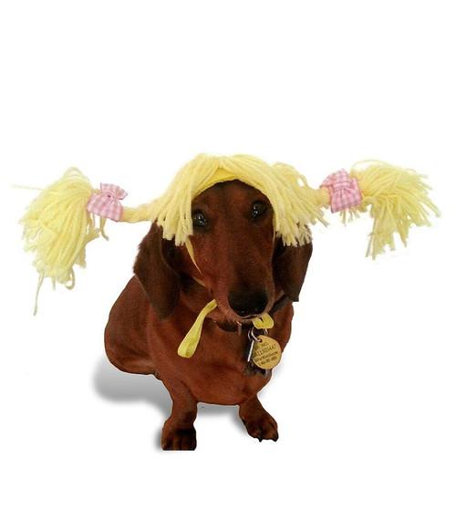 Pig Tails Dog Wig