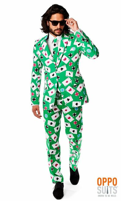 Mens Opposuits Poker Face Suit