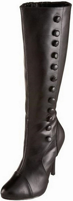 Arena Side Buttons Black Boots