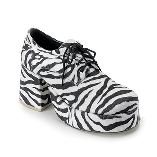 Jazz Men Shoes Zebra Fur