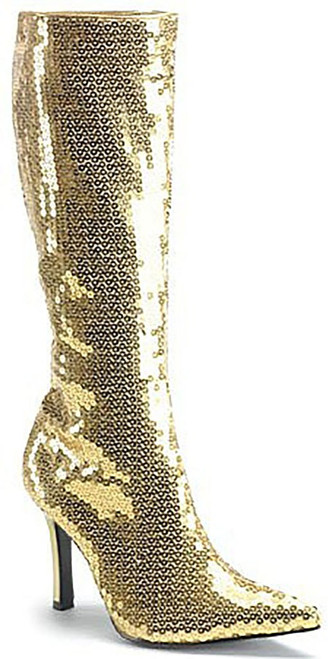 Gold Sequins Boot