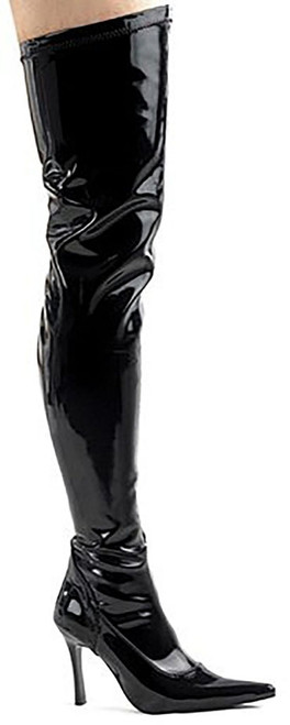 Thigh High Black Patent Boot