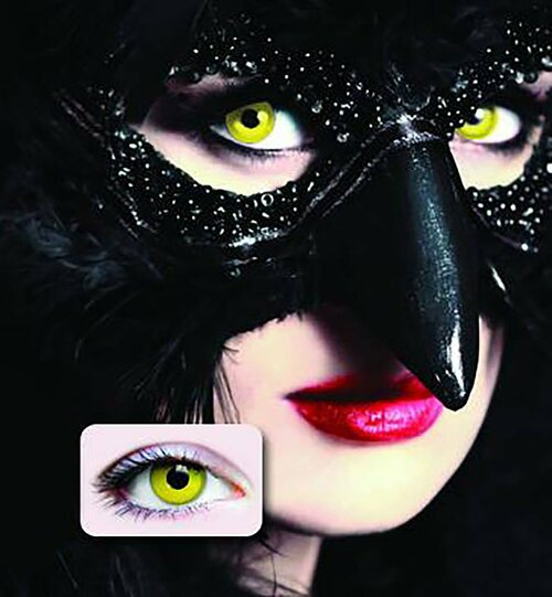 Raven Yellow Contact Lenses