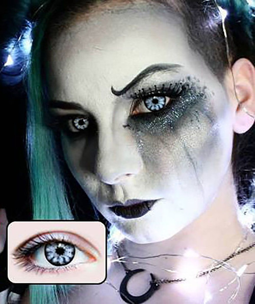 white walker halloween contact lenses
