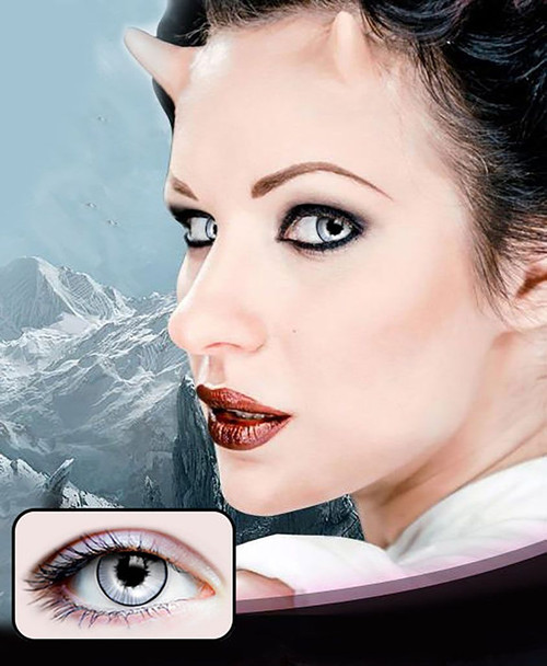 White/Grey Ghost Contact Lenses