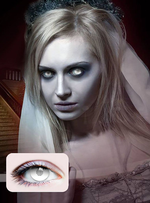 Full White Contact Lenses