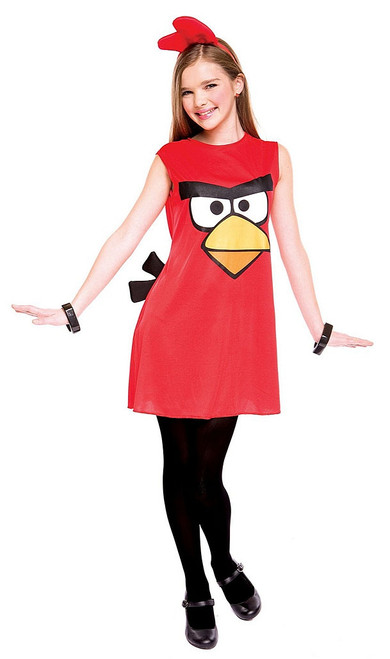 Girl's Angry Birds Red Costume