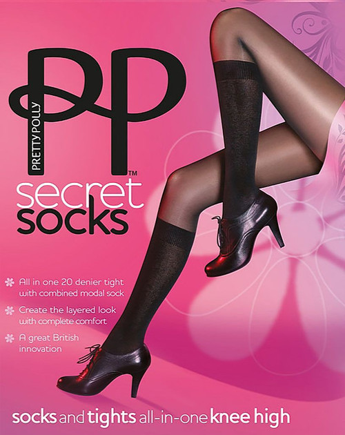 Pretty Polly Fabulous Fashion Secret Sock Knee High