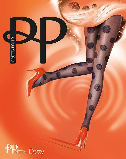 Pretty Polly Fabulous Fashion Lace Dotty Tights